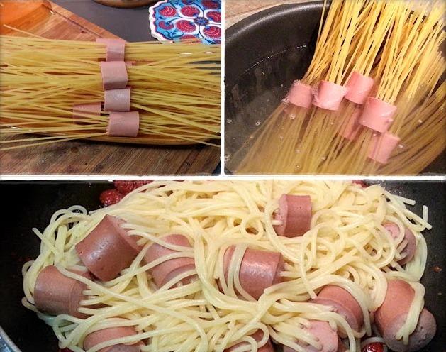 макароны сосиской рецепт с фото пошагово