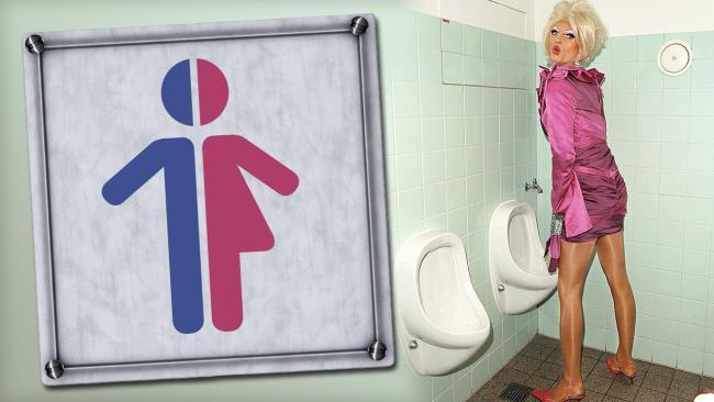 Тети девушка в туалете для парней