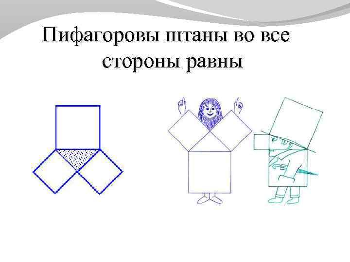 Пифагоровы штаны картинка