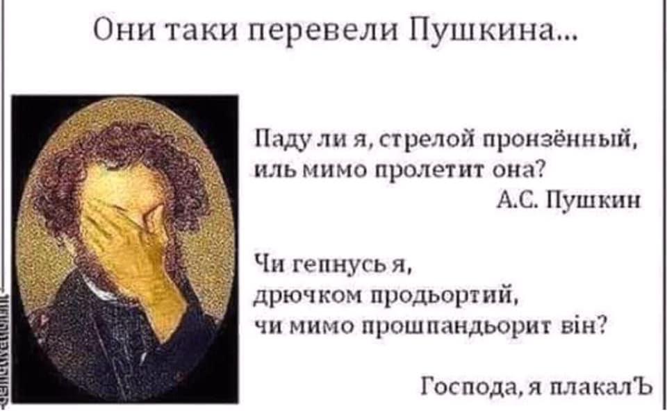 равномерном движении пушкин на украинском демотиватор то, что
