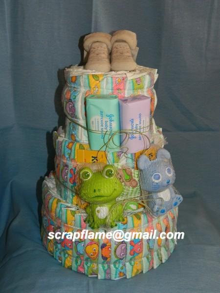 Торт из памперсов фото с клиентами