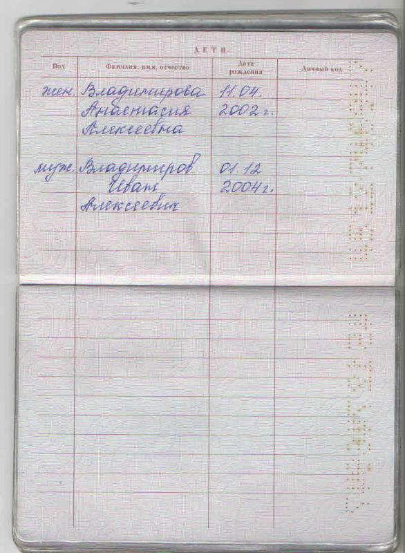 Запись в паспорт родителей о ребенке вносится на основании указаний акта, предусматривающего нормы об основном документе российских граждан.