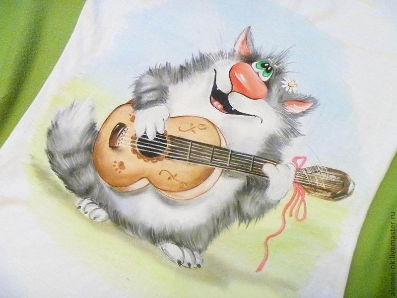 Открытки кот с гитарой, день