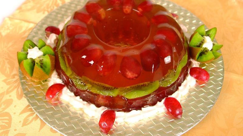 Фото торт залитые фрукты
