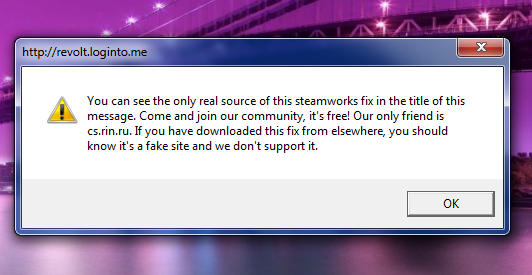 You can see the only real source of this steamworks fix in