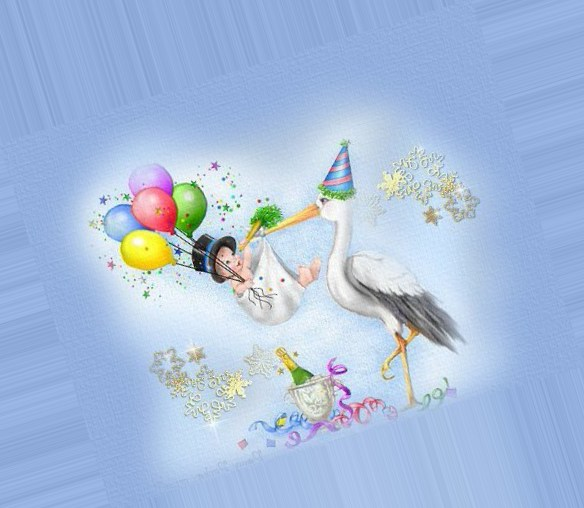 Открытки, открытки с днем рождения аист