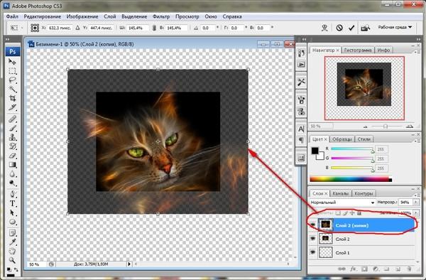 как приблизить картинку в фотошопе