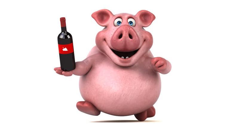 Прикольные картинки пьяная свинья
