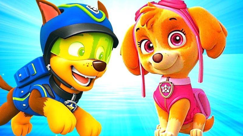 Игра щенячий патруль гонщик и скай