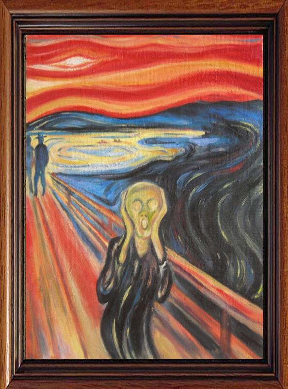 amazoncom the scream of nature edvard munch art print - 728×980
