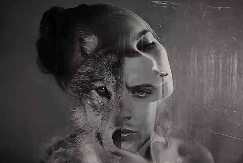 росписи картинки людей с лицами волков самого