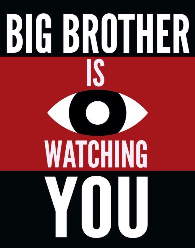 1984 big brother is watching you Big brother is watching you scared yet big brother should be a nice guy that, even if he gives you wedgies once in a while, still has your back on the playground but since war is peace, freedom is slavery, and ignorance is strength, big brother is also a controlling and not remotely.