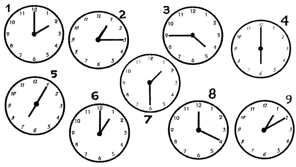 Время на английском для детей картинки