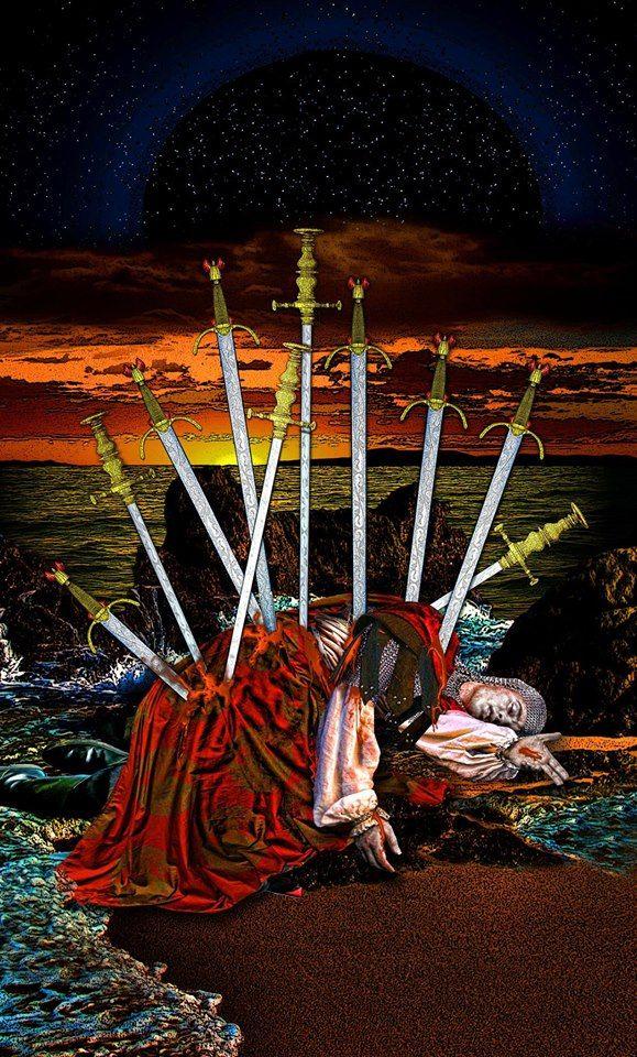 тату карты таро фото мечи мужа
