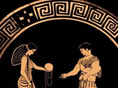 Ариадна вручает Тесею нить