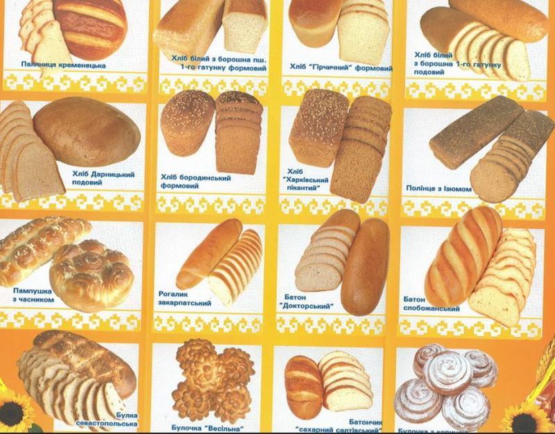 хлебные изделия картинки с названиями лесной