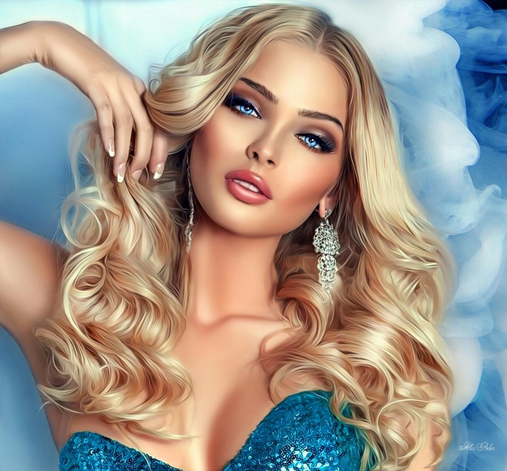 Картинки эффектная блондинка