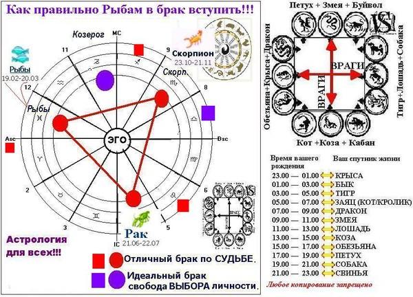 гороскоп на март по неделям