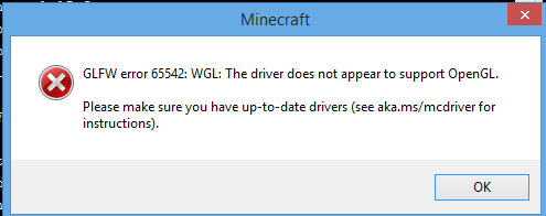Почему вылезает ошибка в майнкрафт bad video card drivers minecraft was unable to start because it failed to find an accelerated opengl mode this can usually be fixed by updating the video card drivers begin error report 7fe