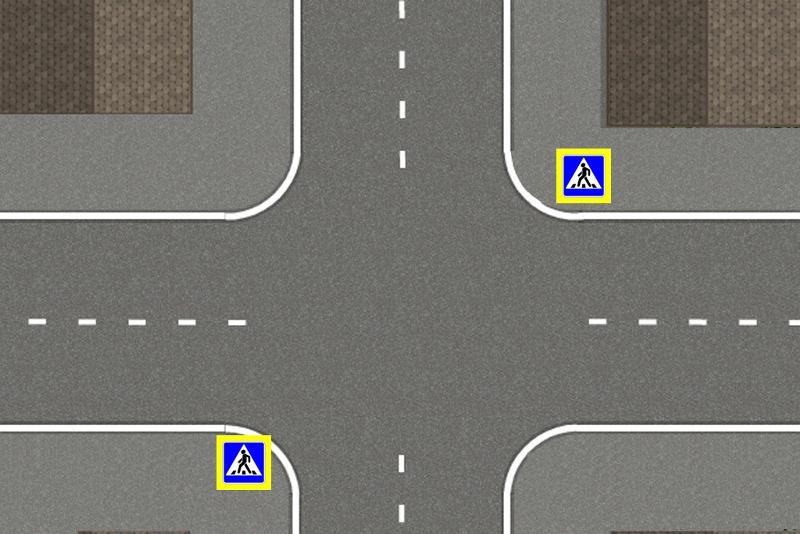 перекресток равнозначных дорог картинка