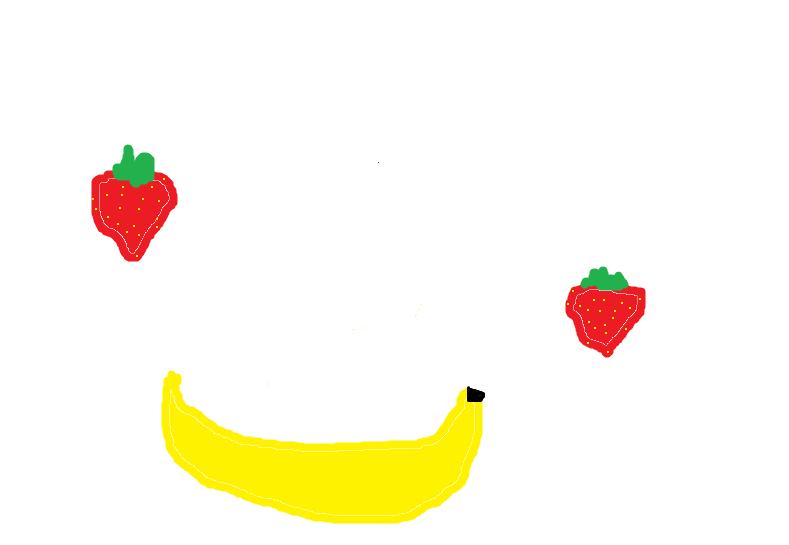 сервировка картинка где нарисован банан клубника и фото как навести