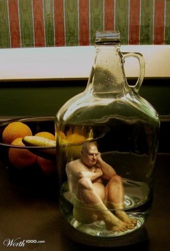 выглядеть, картинка лезть в бутылку вот
