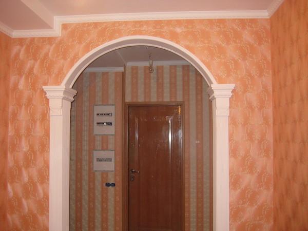 Как между комнатами сделать арку из 159