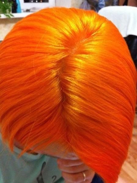 Ярко-рыжая краска для волос