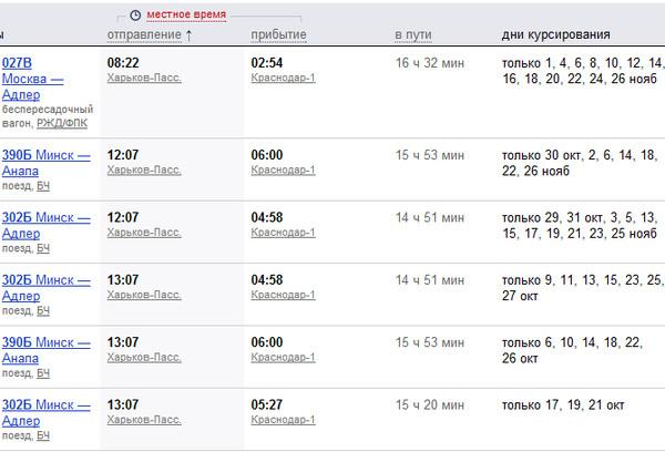 салат расписание поездов краснодар 1 в москву износился полностью