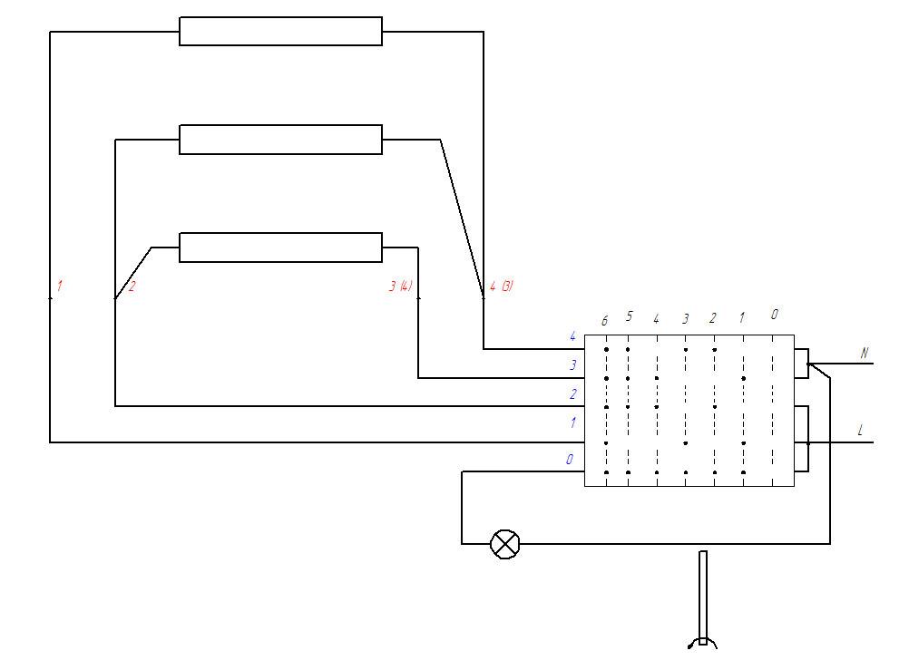 Схема подключения конфорки