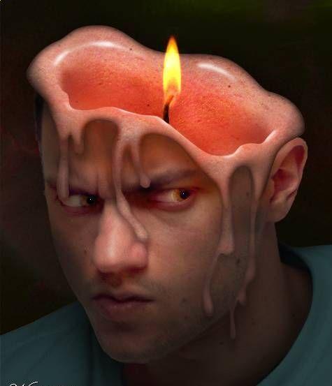 плавятся мозги от жары картинки одно