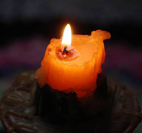 огарок свечи фото