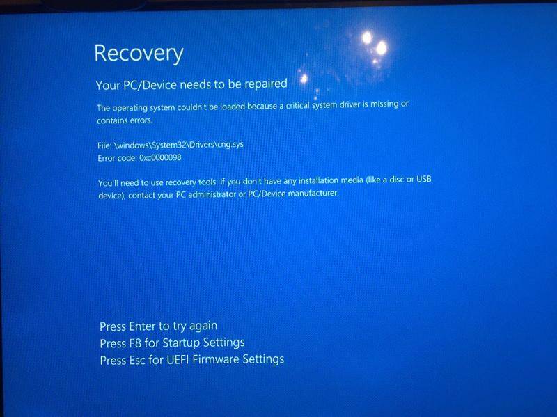 Recover system files windows 7