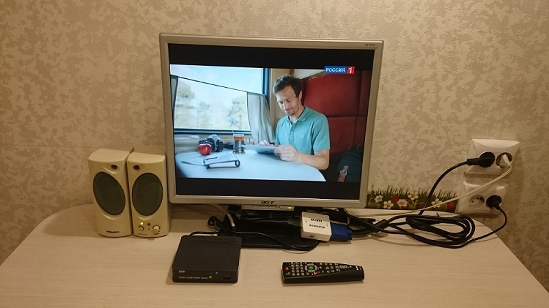 Как сделать телевизор из компьютерного монитора