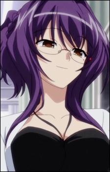 Аниме девушка с темно-фиолетовыми волосами