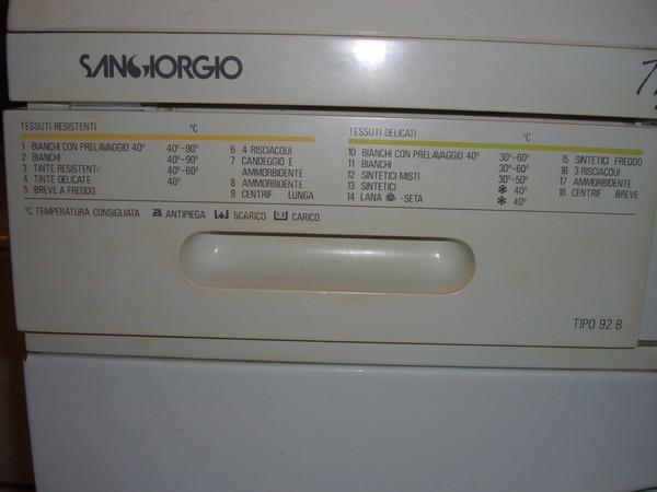 Инструкция к стиральной машине sangiorgio
