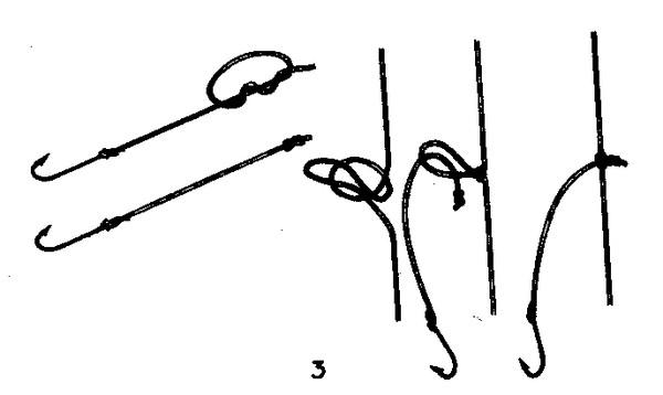 Как вязать на удочку крючки 2