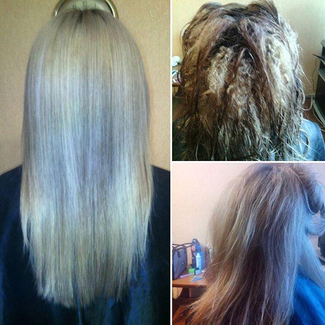 Лечение волос после осветления