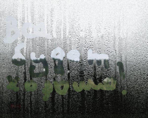 Картинки с надписями на окне