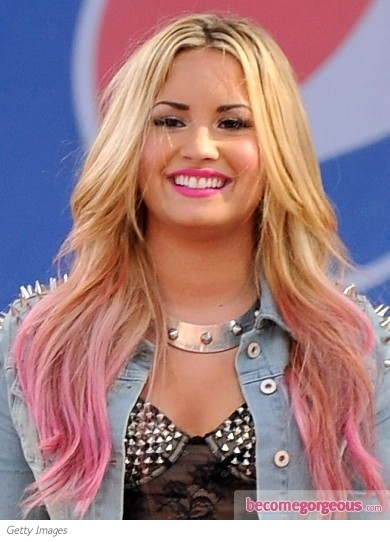Чем красить розовые кончики волос