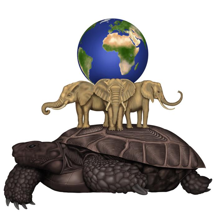 слоны держат землю картинки