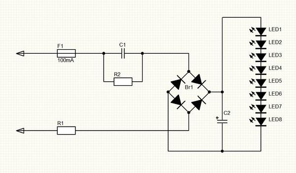 C1 - гасящий конденсатор