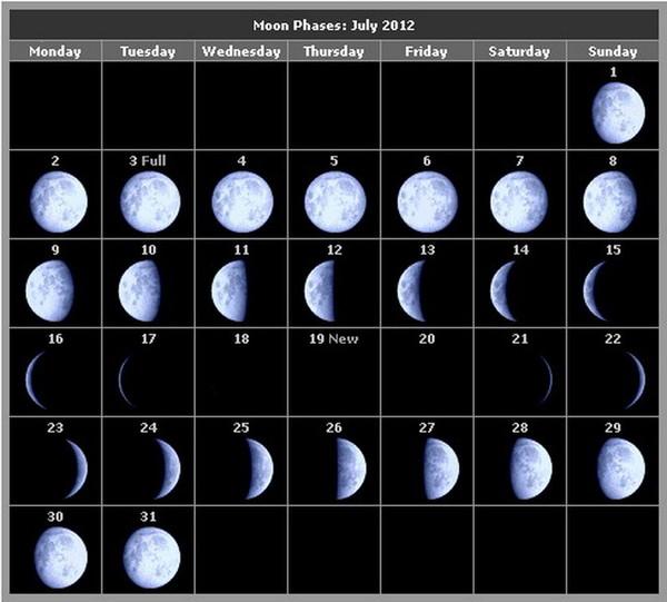 какая сегодня луна 1января 2016