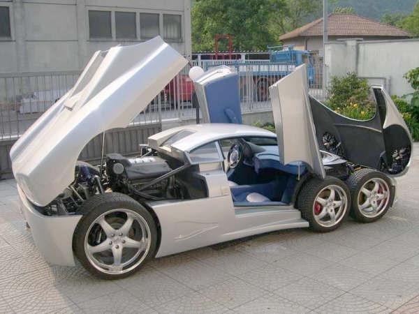 шестиколесный легковой автомобиль фото