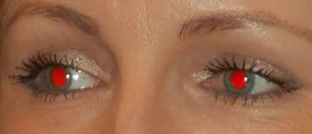 Как сделать эффект красных глаз фото 113