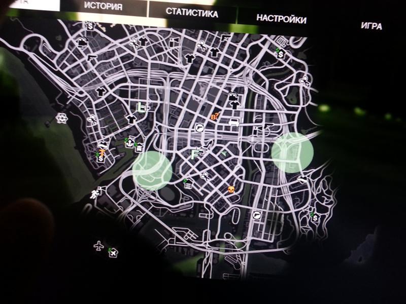 стекло, зеленые круги на карте в гта 5 телефоны