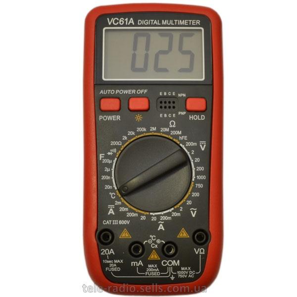 Тестер цифровой мультиметр vc61a инструкция