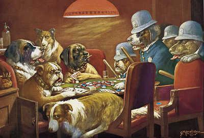 Найти картину собака играет в карты двойная косынка две масти 3 карты играть бесплатно онлайн