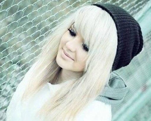 Фото девушек челкастых блондинок фото 504-942
