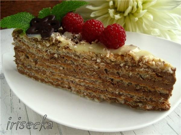 торт со сгущёнкой без масла рецепт с фото